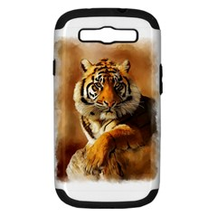 Tiger Samsung Galaxy S Iii Hardshell Case (pc+silicone)