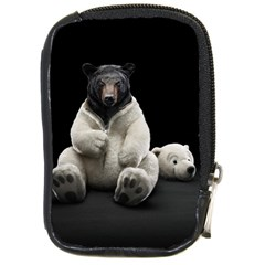 Bear In Mask Compact Camera Leather Case