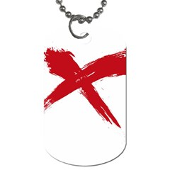 Red X Dog Tag (two Sided)  by magann