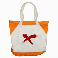 Red X Accent Tote Bag by magann