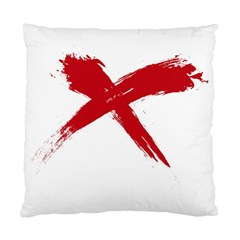 Red X Cushion Case (two Sides) by magann