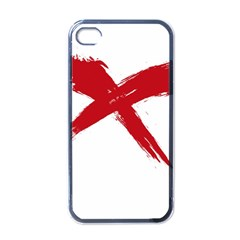 Red X Apple Iphone 4 Case (black) by magann