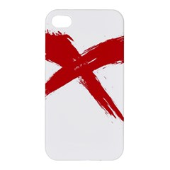 Red X Apple Iphone 4/4s Hardshell Case by magann