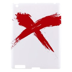 Red X Apple Ipad 3/4 Hardshell Case by magann