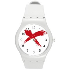 Red X Plastic Sport Watch (medium) by magann