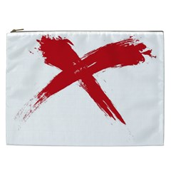Red X Cosmetic Bag (xxl) by magann