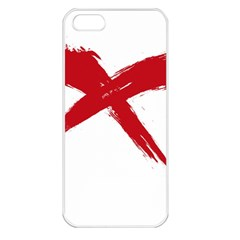Red X Apple Iphone 5 Seamless Case (white) by magann