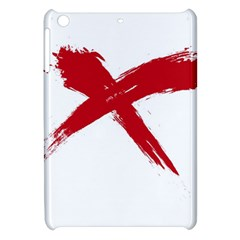 Red X Apple Ipad Mini Hardshell Case by magann