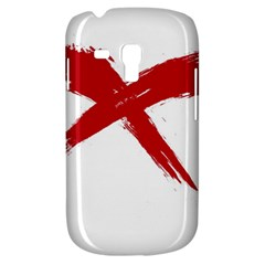 Red X Samsung Galaxy S3 Mini I8190 Hardshell Case by magann