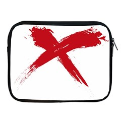Red X Apple Ipad 2/3/4 Zipper Case by magann
