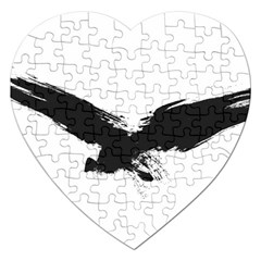 Grunge Bird Jigsaw Puzzle (heart) by magann