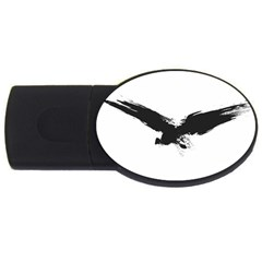Grunge Bird 4gb Usb Flash Drive (oval) by magann