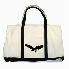 Grunge Bird Two Toned Tote Bag by magann
