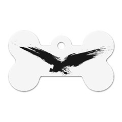 Grunge Bird Dog Tag Bone (one Sided) by magann
