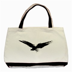 Grunge Bird Twin Sided Black Tote Bag by magann