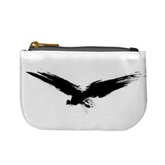 Grunge Bird Coin Change Purse