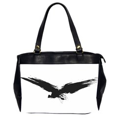 Grunge Bird Oversize Office Handbag (two Sides) by magann