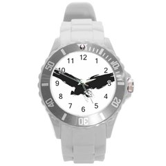 Grunge Bird Plastic Sport Watch (large) by magann
