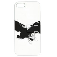 Grunge Bird Apple Iphone 5 Hardshell Case With Stand by magann