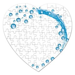 Water Swirl Jigsaw Puzzle (heart) by magann
