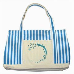 Water Swirl Blue Striped Tote Bag by magann