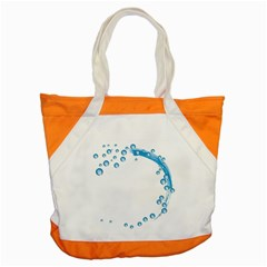 Water Swirl Accent Tote Bag by magann