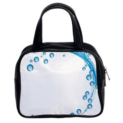 Water Swirl Classic Handbag (two Sides) by magann