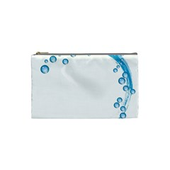 Water Swirl Cosmetic Bag (small) by magann
