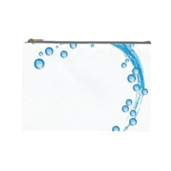 Water Swirl Cosmetic Bag (large) by magann