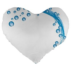 Water Swirl 19  Premium Heart Shape Cushion