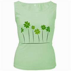 Clover Womens  Tank Top (green)
