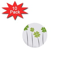 Clover 1  Mini Button (10 Pack) by magann