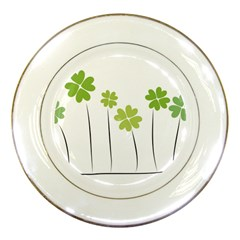 Clover Porcelain Display Plate by magann