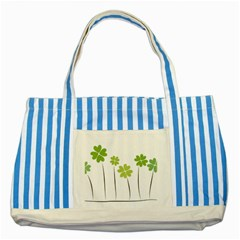 Clover Blue Striped Tote Bag by magann