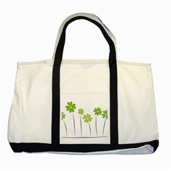 Clover Two Toned Tote Bag by magann