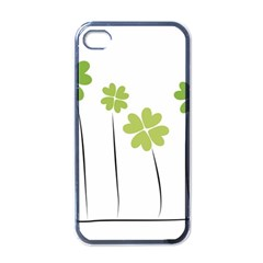 Clover Apple Iphone 4 Case (black) by magann