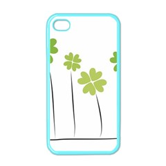 Clover Apple Iphone 4 Case (color) by magann