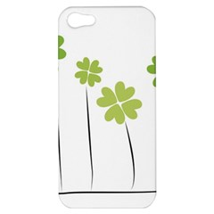 Clover Apple Iphone 5 Hardshell Case by magann