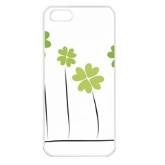 Clover Apple Iphone 5 Seamless Case (white) by magann