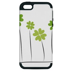 Clover Apple Iphone 5 Hardshell Case (pc+silicone) by magann