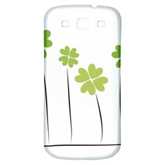 Clover Samsung Galaxy S3 S Iii Classic Hardshell Back Case by magann