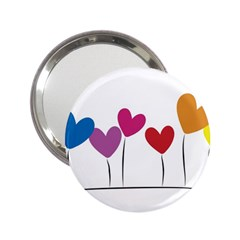Heart Flowers Handbag Mirror (2 25 ) by magann