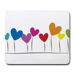 Heart Flowers Large Mouse Pad (rectangle)