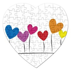 Heart Flowers Jigsaw Puzzle (heart) by magann