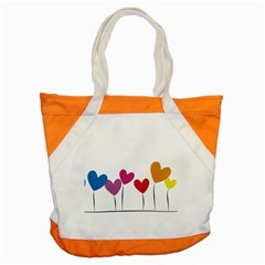 Heart Flowers Accent Tote Bag by magann