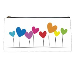 Heart Flowers Pencil Case by magann