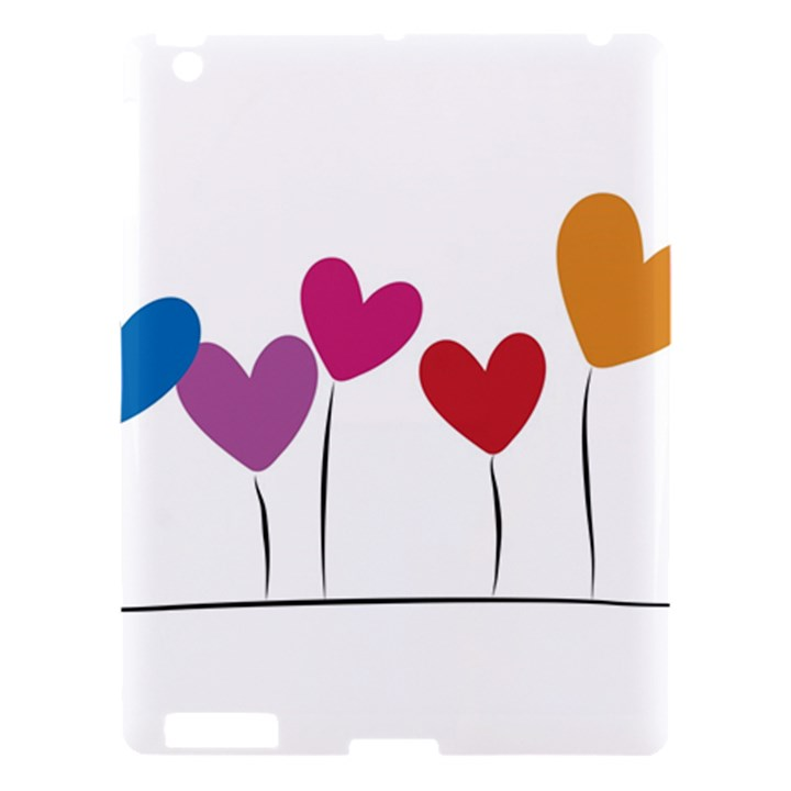 Heart flowers Apple iPad 3/4 Hardshell Case