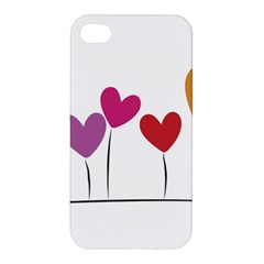 Heart Flowers Apple Iphone 4/4s Premium Hardshell Case by magann