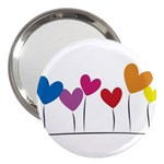Heart flowers 3  Handbag Mirror Front