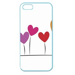 Heart Flowers Apple Seamless Iphone 5 Case (color) by magann